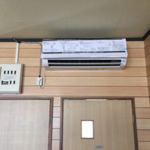 上田市にてエアコンを設置しました